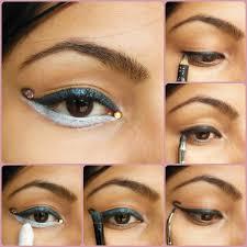 eye makeup tutorial curved cat liner