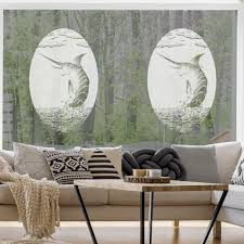 Oval Marlin Static Cling Window Film World