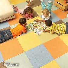 how to lay carpet squares the family
