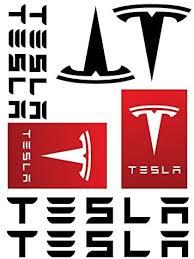Amazon Com Tesla Logo Decal Sticker Set Everything Else