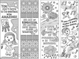 Set Of 8 Coloring Bookmarks With Feel Good Quotes Cute Etsy
