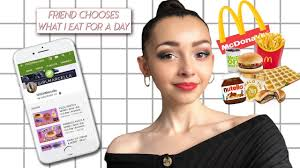 my friend chooses what i eat for a day