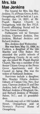 Obituary for Ida Mae Jenkins (Aged 75) - Newspapers.com