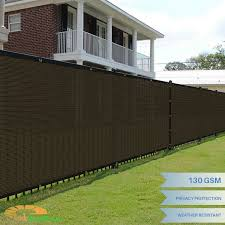 Customize 8 Ft Tall Brown Privacy Screen Fence Windscreen Mesh Shade Yard Cover Ebay