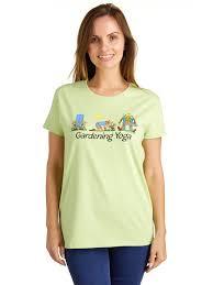 women s gardening yoga short sleeve t shirt