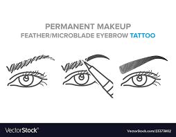 eyebrow permanent makeup tattoo
