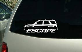 Ford Escape Suv Outline Sticker Decal Wall Graphic Ebay
