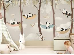 Tuya Art Wallpaper For Kid Room Cartoon Pandas Play Garden For Childs Room Mural Wallpapers Baby Room Wall Decor Matt Finish Free Pc Wallpaper Free Pc Wallpapers From Fumei66 30 Dhgate Com