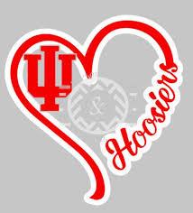 I Heart Iu Window Decal Big 10 Team College Football Basketball Baseball Hoosiers Indiana Football Window Decals Football And Basketball