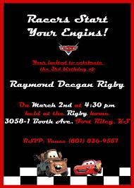 Disney S Cars Birthday Invite Fiesta Invitaciones Y Ave