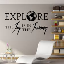 Travel Wall Decal Explore The Joy Is In The Journey