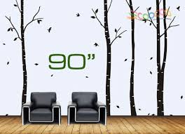 Large Dark And Green Tree Blowing In The Wind Tree Wall Decals Wall Sticker Viny For Sale Online Ebay