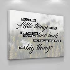 enjoy life quote canvas print art positive quotes home wall decor