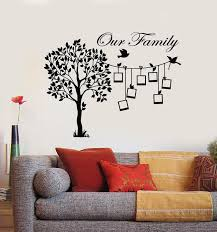 Vinyl Wall Decal Family Tree Branch Photos Birds Living Room Stickers Wallstickers4you
