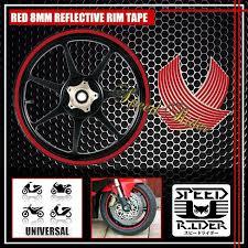 Red Reflective Rim Tape Wheel Stripe Trim Car Bike Bicycle Decal 16 17 18 19 Ebay
