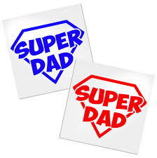 Super Dad Decal For Cup Laptop Or Car Decals By Adavis