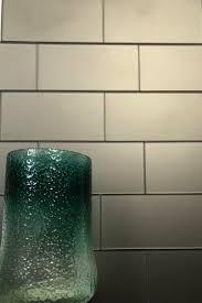 glass subway tile in eternal bronze