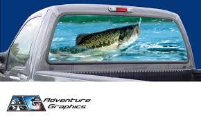 Vehicle Graphics Rear Window Graphics Fishing Rear Window Graphic