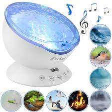 Happyline Night Light Projector Ocean Wave Sound Machine With Soothing Nature Noise And Relaxing Light Show Color Changing Wave Light Effects For Baby Kids Adults Bedroom Living Room Walmart Com Walmart Com