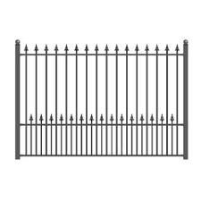 3 Ft H X 6 Ft W Newport Yard Fence Panel In 2020 Steel Fence Iron Fence Steel Fence Panels