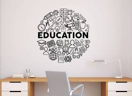 Education Wall Decal Vinyl Sticker School Science Home Office Etsy Classroom Interior Vinyl Wall Decals Wall Decals