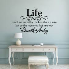 Life Wall Decal Removable Home Family Quote Wall Sticker Breath Away Wall Art Mural Living Room Wall Vinyl Sticker Ay1815 Wall Stickers Aliexpress