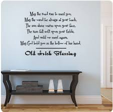 Amazon Com 30 Old Irish Blessing Wall Decal Sticker May The Road Rise To Meet You Wind Always At Your Back Sun Shine Warm Upon Face Rain Fall Soft Upon Fields Until We