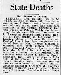 Myrtle Bennett Walsh/Obituary - Newspapers.com
