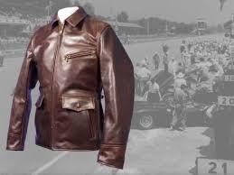 long half belt horsehide leather jacket