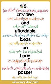 affordable ideas to hang a poster