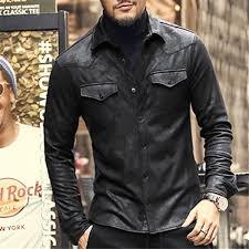 leather jacket shirts men plus