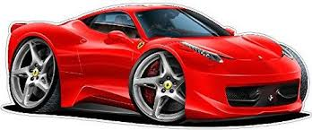Ferrari 458 Italia Wall Decal 2ft Long Sport