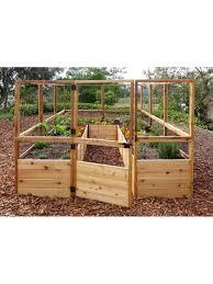 Raised Garden Bed 8 X8 Or 8 X12 With Deer Fence Kit Gardener S Supply