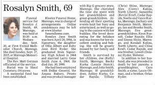 Rosalyn Smith obit - Newspapers.com