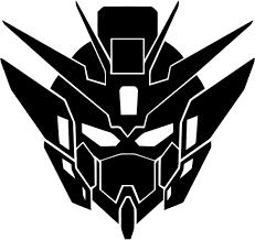 Amazon Com Gundam Wing Anime Zero Head Logo Vinyl Stickers Symbol 5 5 Decorative Die Cut Decal For Cars Tablets Laptops Skateboard Black Computers Accessories