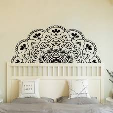 Half Mandala Wall Decal Sticker For Bedroom Modern Design Pattern Vinyl Art Self Adhesive Wall Stickers Home Room Decor Shopee Malaysia