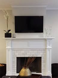 modern fresno fireplace wood mantel
