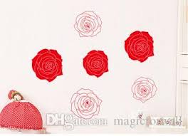 Pink Red Rose Flowers Wall Art Mural Decor Creative Fashion Home Decoration Decal Poster Romantic Bedroom Wallpaper Decor Vinyl Wall Sayings Vinyl Wall Sticker From Magicforwall 2 43 Dhgate Com