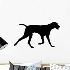 Amazon Com Wallmonkeys Galloping Dog Silhouette Wall Decal Peel And Stick Graphic Wm140402 24 In W X 16 In H Home Kitchen