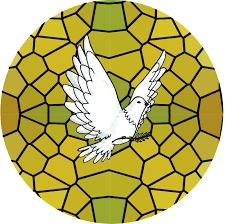 Dove Stained Glass Window Sticker Tenstickers