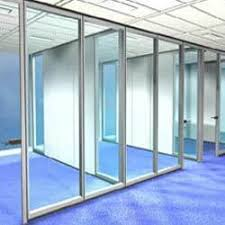 aliuminium framed glass partition at rs