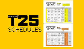 focus t25 workout schedule zillafitness