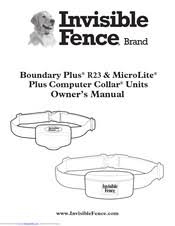Invisible Fence Boundary Plus R23 Owner S Manual Pdf Download Manualslib