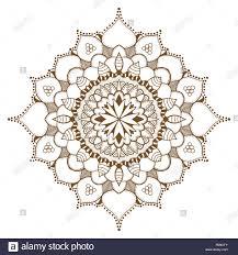 Adorno Floral Abstracto Tatuaje De Henna Mehndi Mandala Yantra