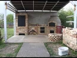 kerti konyha építése wood fired oven
