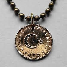 kurus coin pendant turkish istanbul