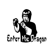 Bruce Lee Enter The Dragon Vinyl Sticker