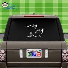 Amazon Com Car Decal Geek Cool Rhino Rhinoceros Head Vinyl Decal Sticker Bumper Cling For Car Truck Window Laptop Macbook Wall Cooler Tumbler Die Cut No Background Multi Sizes Colors Yellow 8 Automotive