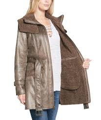 womens duster shearling mid length