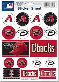 Amazon Com Arizona Diamondbacks Official Mlb 5 X 7 Sticker Sheet D Backs Wincraft 271907 Home Kitchen